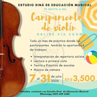 Campamento de violín virtual