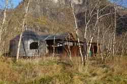 Yurt unit & fireplace