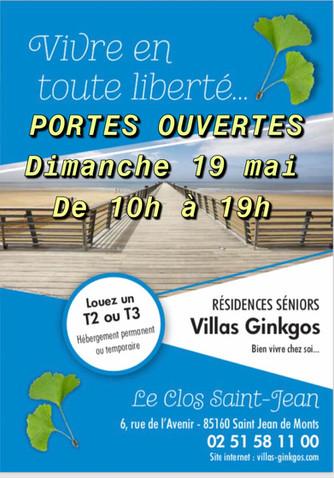 PORTES OUVERTES A LA RÉSIDENCE SENIORS LE CLOS SAINT JEAN   DIMANCHE 19 MAI