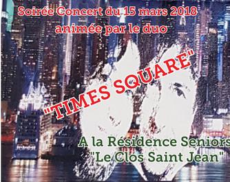 SOIREE CONCERT 15 MARS 2018              AU CLOS SAINT JEAN