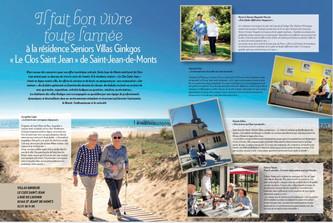 """Notre Résidence Seniors """"LE CLOS SAINT JEAN"""" dans le nouveau magazine """"CHALLANS MER E"""
