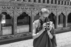 Engaging monks in Bhutan