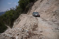 On road adventure in Bhutan