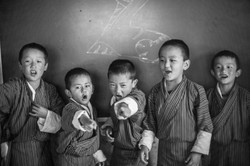 Bhutan school children playing