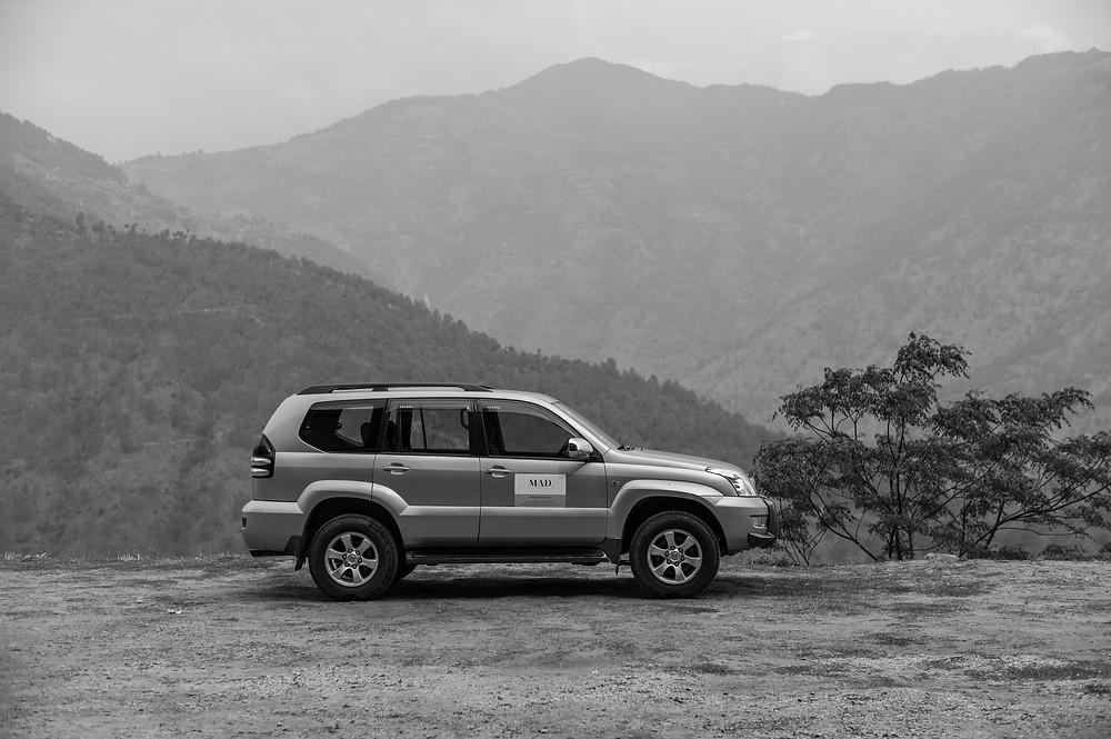 Mountainous view in Bhutan
