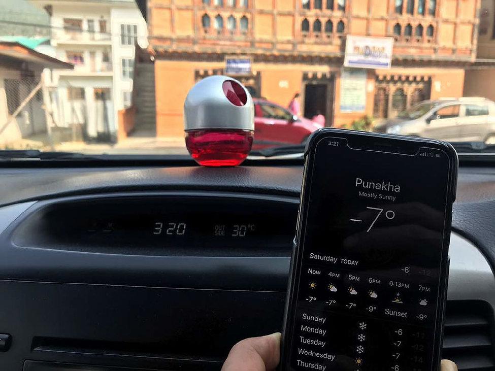 Temperature in Punakha