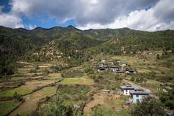 Beautiful view of Bhutan