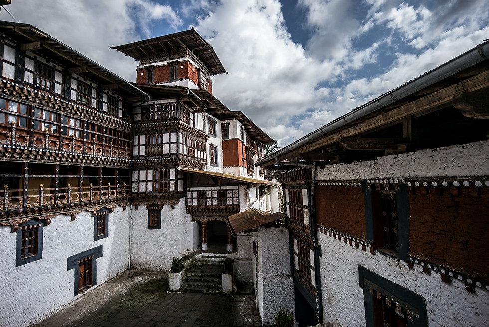 Autumn weather at Trongsa Dzong Bhutan