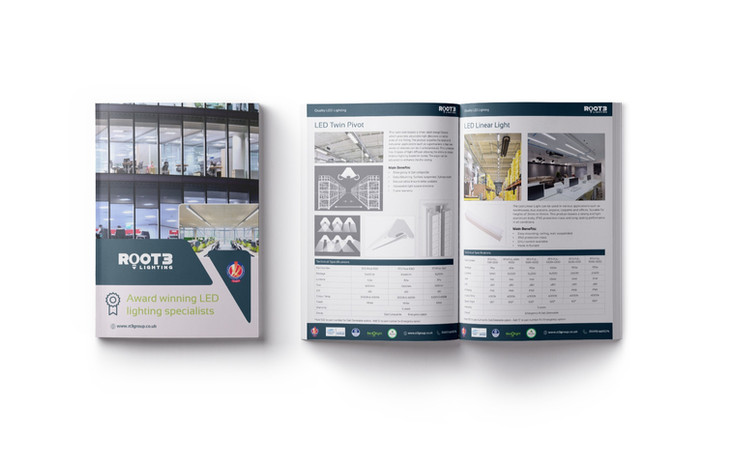 Brochure and Creative literature for Root3 Electrics, UK