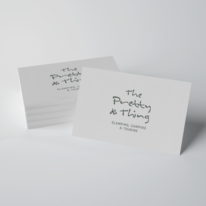 Branding for The Pretty Thing Campsite, UK