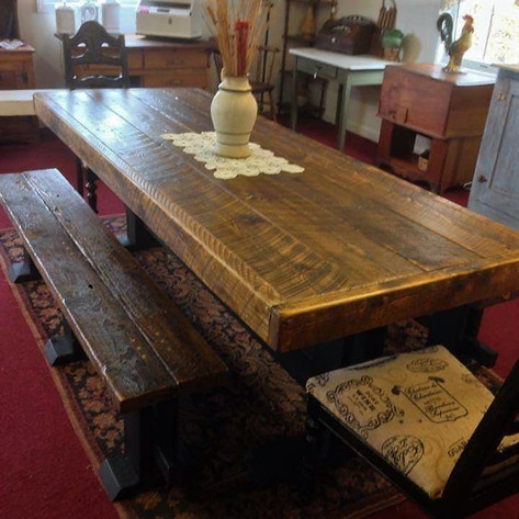 Customer's Finished Rustic Table