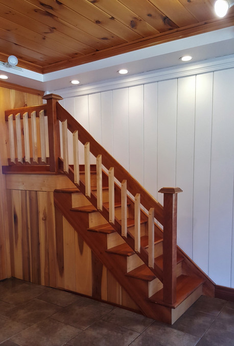 Cherry Staircase & Maple Risers