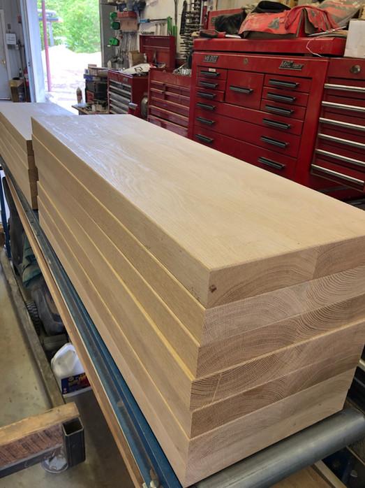 """Custom 2"""" White Oak Stair Treads"""