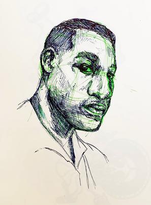 Leon Bridges Portrait