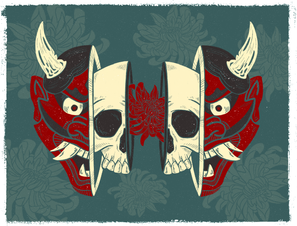 Hannya Mask Illustration - Procreate