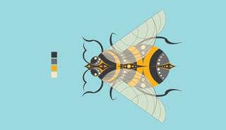 Bee Illustration - Illustrator