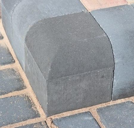High Corner Kerb Bullnose Charcoal