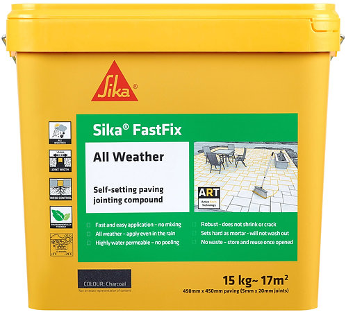 Sika FastFix All Weather Charcoal - 15kg