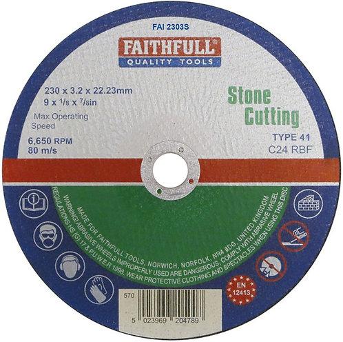 Faithfull Tools Stone Cutting Disc 230mm