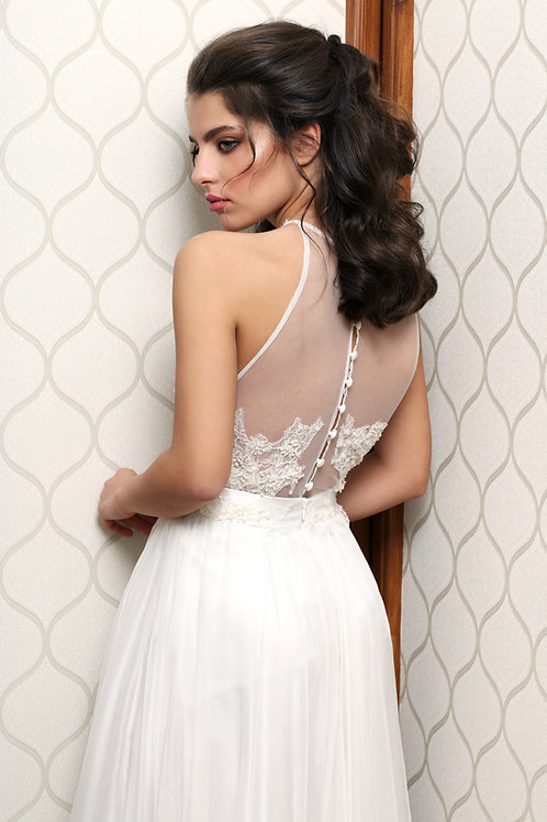 Romantically athletic, two pieces bridal,