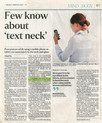 Few know about 'text neck'