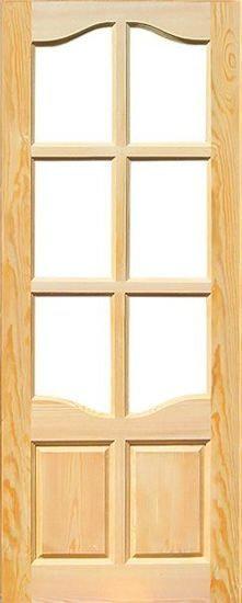 Дверь 8-ми филенчатая,под стекло