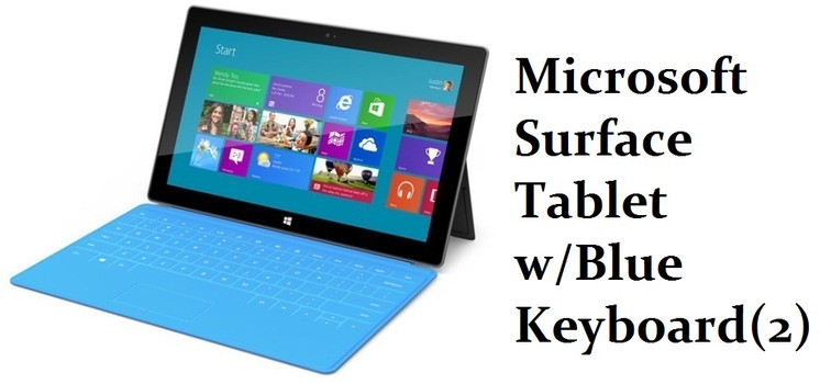 Microsoft Surface with Blue keybo