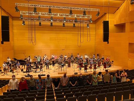 Gravació nou CD Simfònica de Cobla i Corda de Catalunya: 25 anys de Música Global