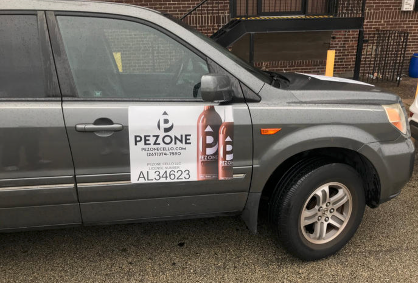 Pezone's delivery vehicle