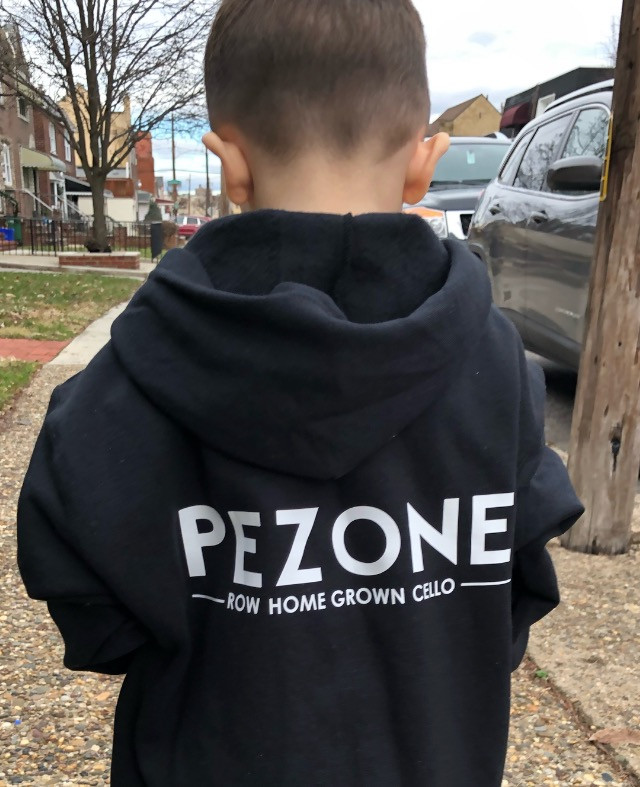 Lorenzo, a future model for GQ sporting the Pezone hoodie