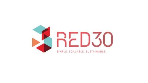RED 30 logo animation