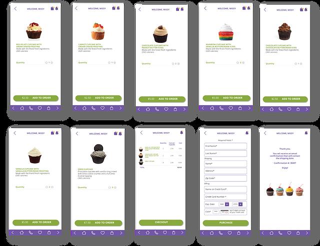 Cupcake mockup app