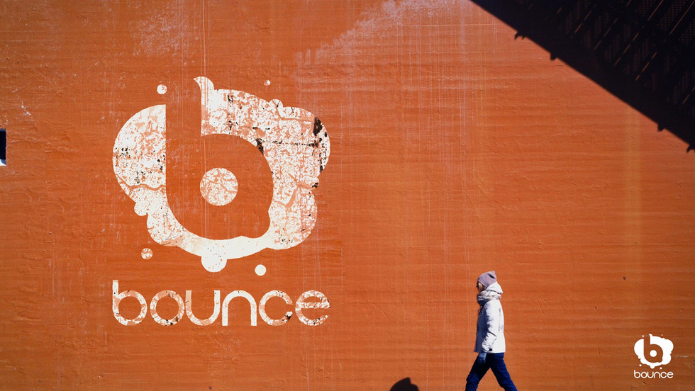 Bounce outdoor sign