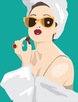 Woman with Towel and bon-bon