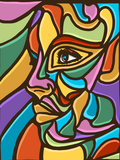 Woman's face - abstract