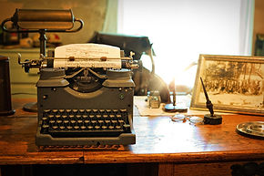 September C. Fawkes Editing Typewriter