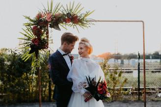 Beautiful bridal couple