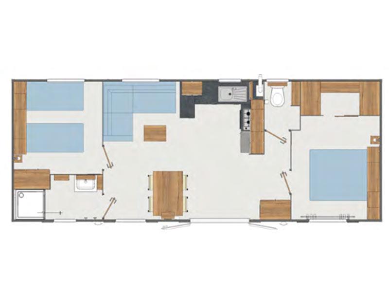Siblu mobil home Moana plan
