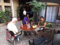 Relaxing in Kinshasa