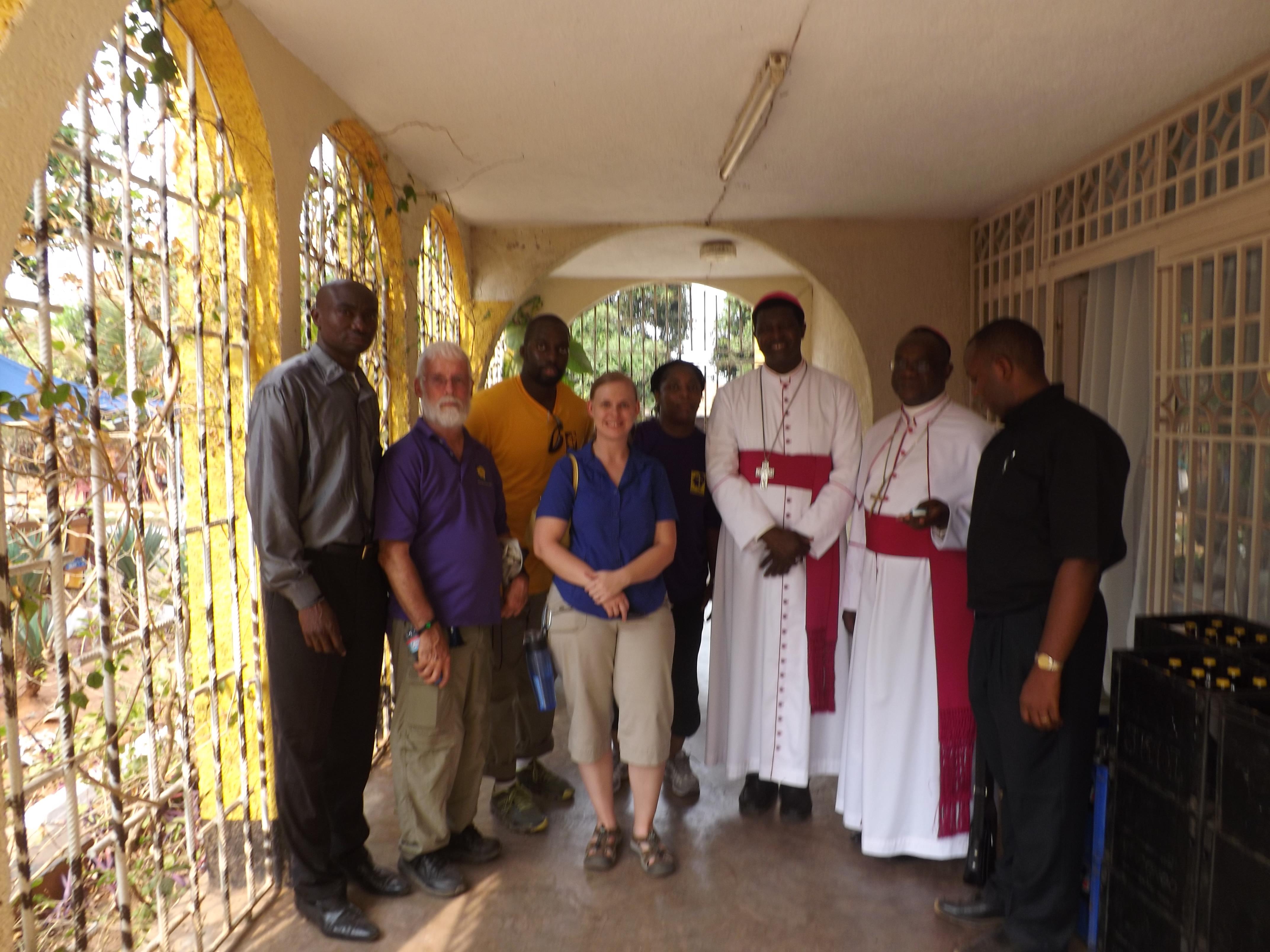 Meeting the Bishop!