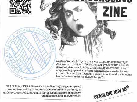 Call for Submissions to WAVE Art Collective Zine Volume Two