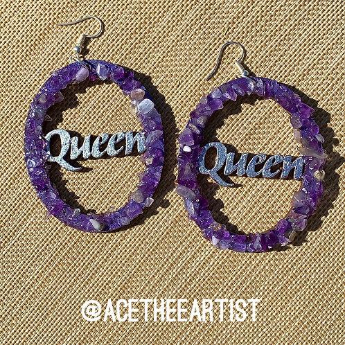 Amethyst Queen Earrings