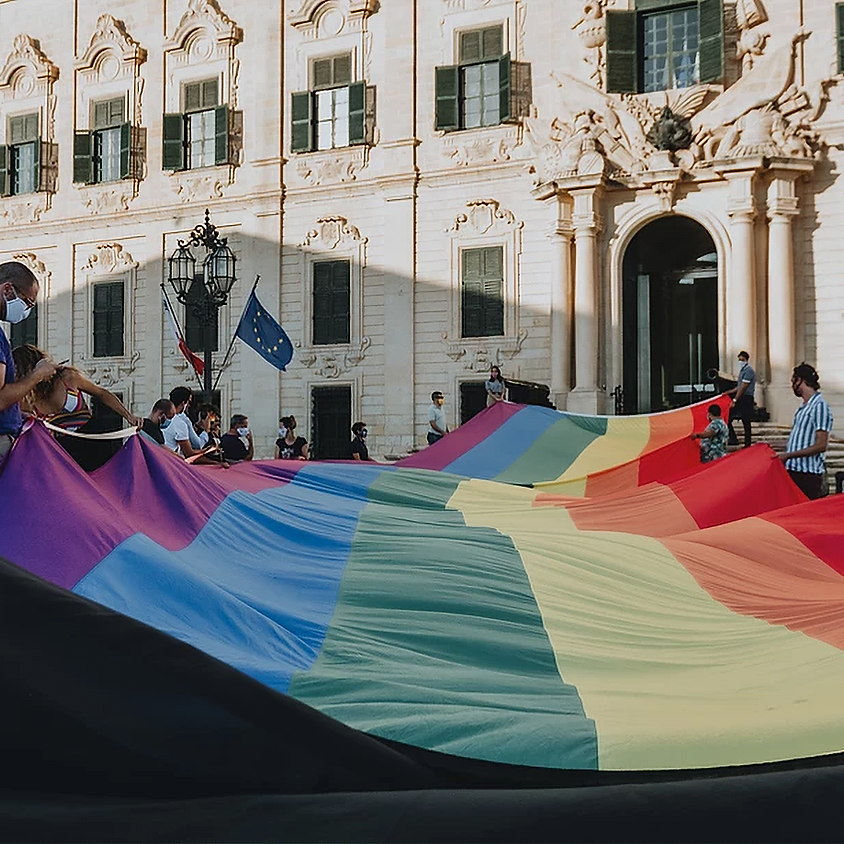 6 Colours | 6 Localities | 1 Pride Flag - Malta Pride Symbolic Demonstration