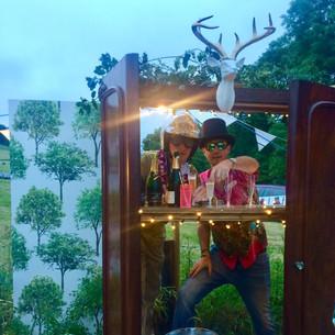 Small Woodstock Party Champagne wardrobe bar.