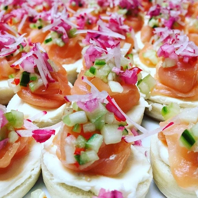 The best canapes.