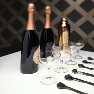 Bond themed party Champagne & Caviar.