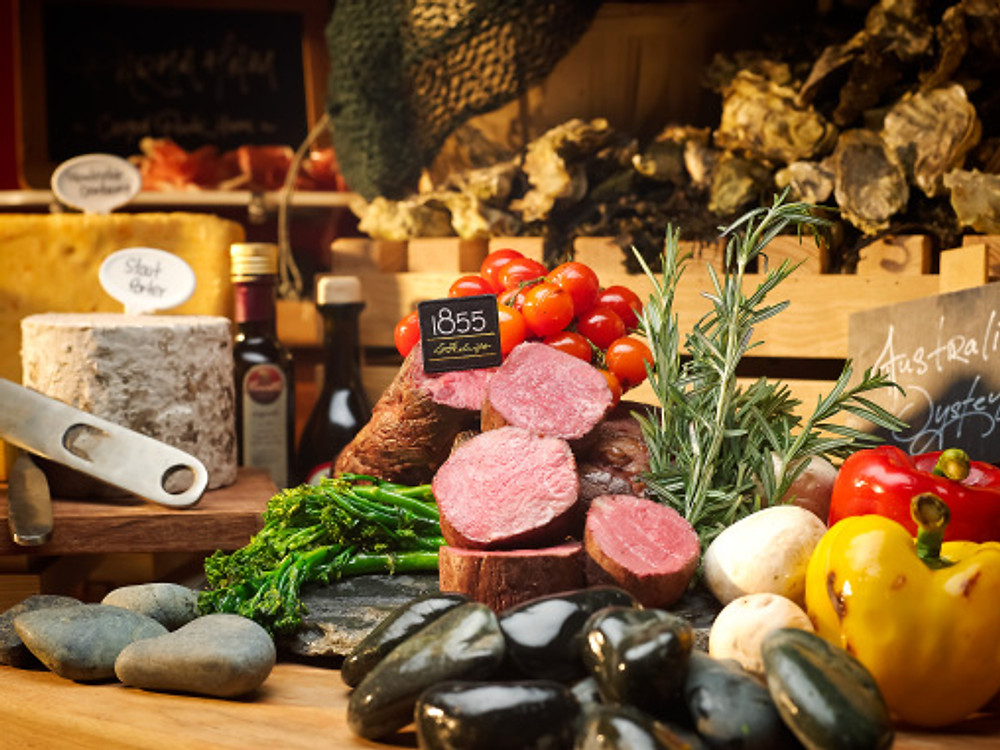 1855 Black Angus Beef and 6 Oyster Varieties
