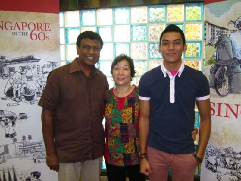 Suresh with his family.