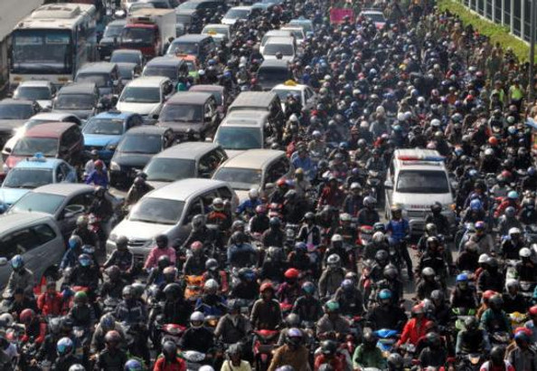 Thousands of motorists sit stuck in the