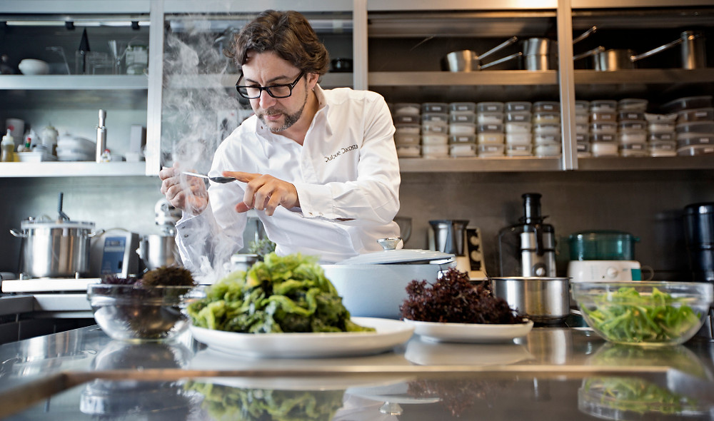 Quique Dacosta - 3 Michelin Star Chef - of The Race Dinners at The Podium Lounge Singapore 2014 on Fri 19 & Sat 20 September..